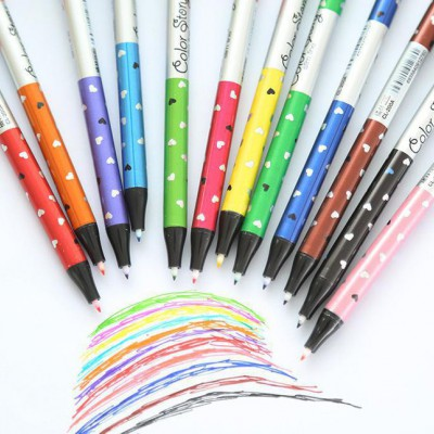 3277韩国文具可爱荧光中性笔 创意水性笔办公学习文具