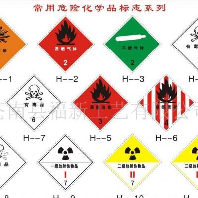供应福新标牌常用危险化学品标志