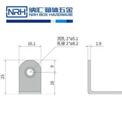 纳汇/NRH7633-25-SUS304 箱包五金包角 器材箱包角 铝箱包边 金属包边